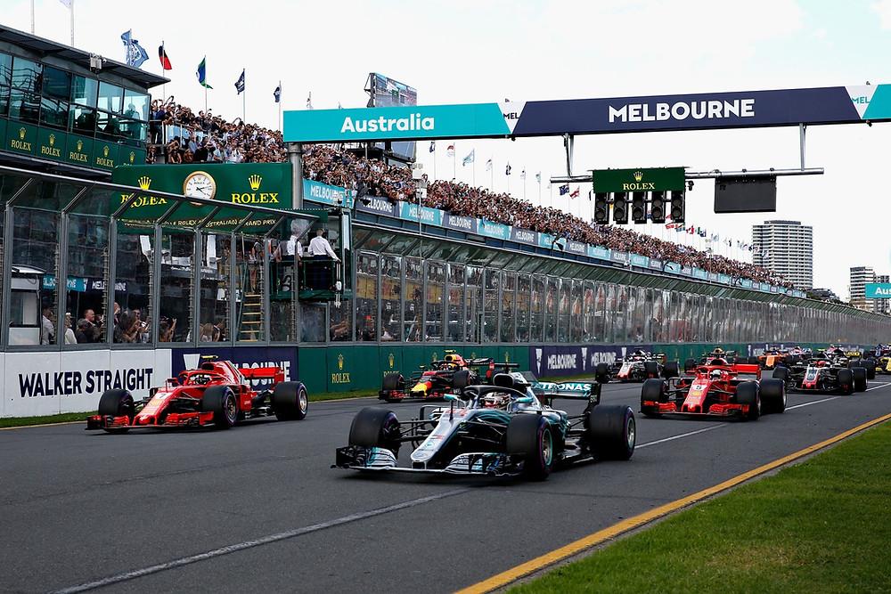 Largada em Melbourne /Foto: Twitter oficial F1