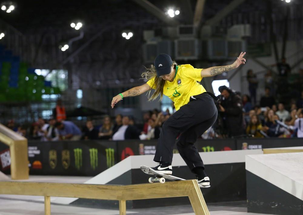 Pâmela Rosa na final do Mundial de skate street — Foto: REUTERS/Amanda Perobelli
