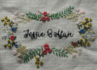 Spring update + wedding embroidery