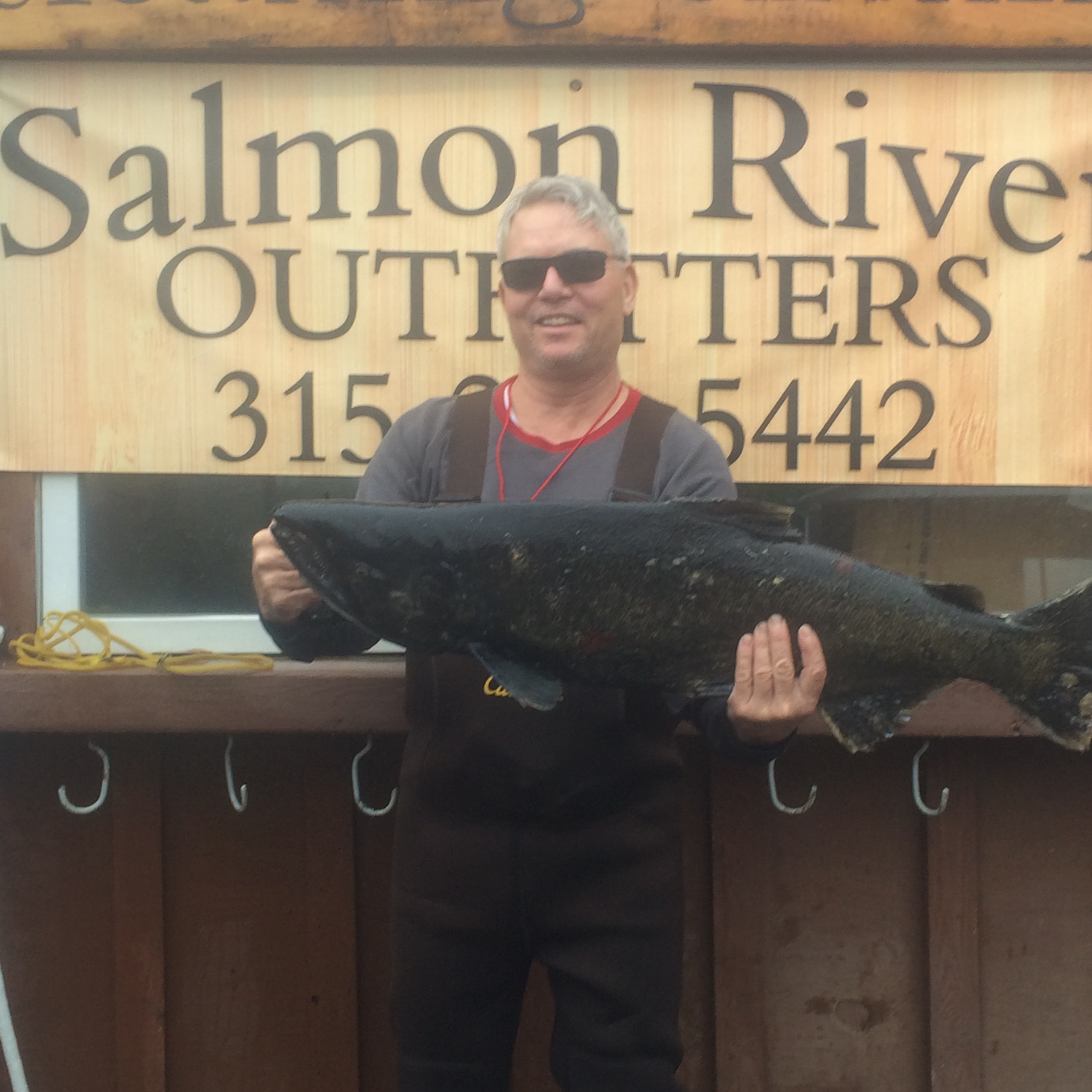 Man with King Salmon