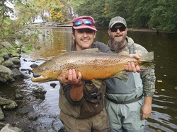 Man with Brown Trout