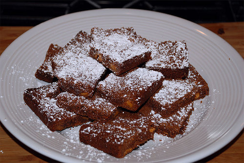 Powdered Sugar Brownies
