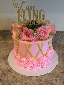 Flower Bachlorette Party Cake
