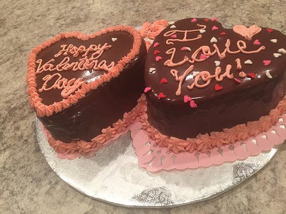 Valentines Day Heart Cake