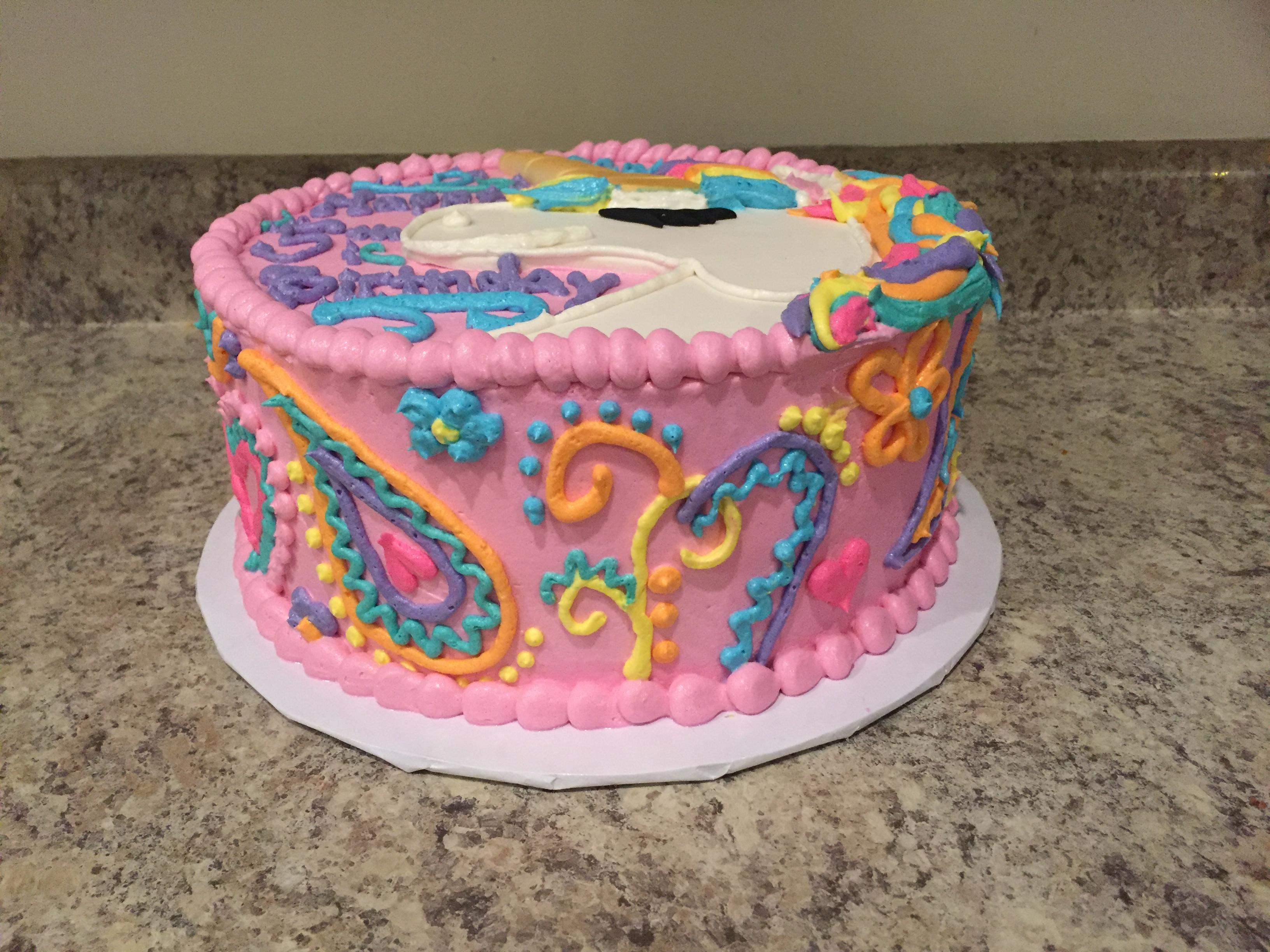 Paisley Unicorn Cake