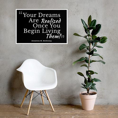 Live Your Dream Framed poster