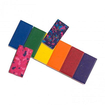 Box of 6 multi-coloured wax blocks