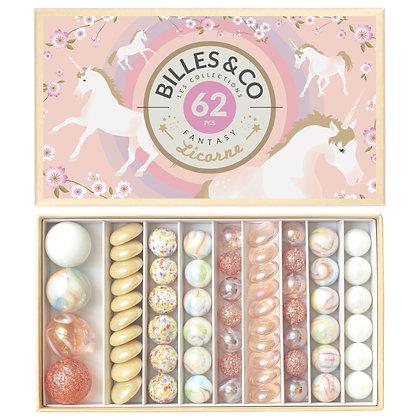 Box of 62 Marbles - Unicorn Sparkle