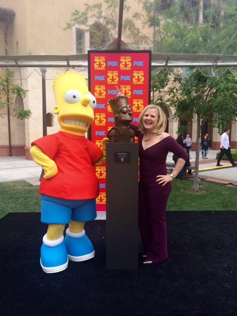 Amber meets Nancy Cartwright again as BART!