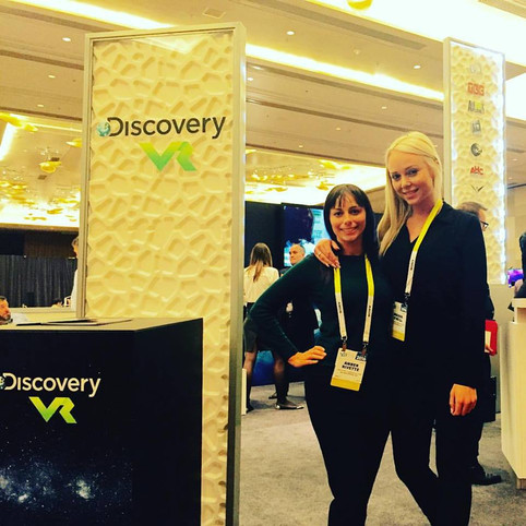 Amber Rivette Working CES & the Puppy Bowl with Discovery VR!