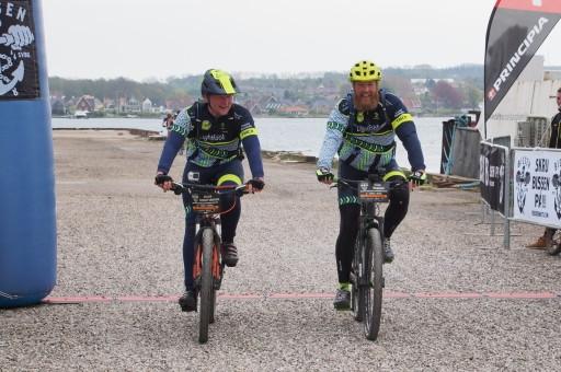 Jacob og Ulrik sammen i mål - godt gået!