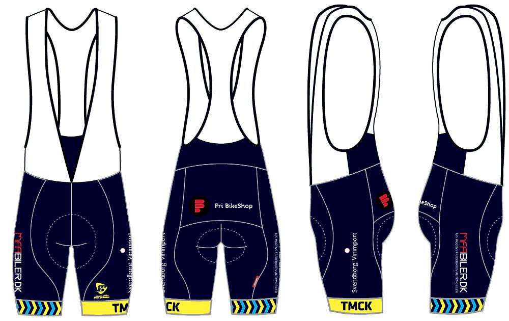 Bibs shorts med velkendte sponsorer