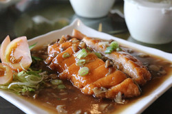 Roast Duck with Mashed Prawns