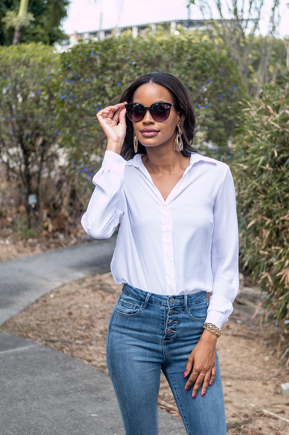 Chantelle Tatyana blog white shirt