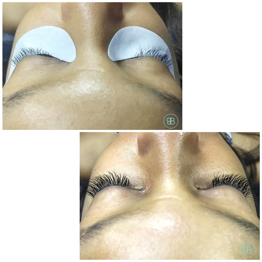 Chantelle Tatyana blog - lash extensions before & after