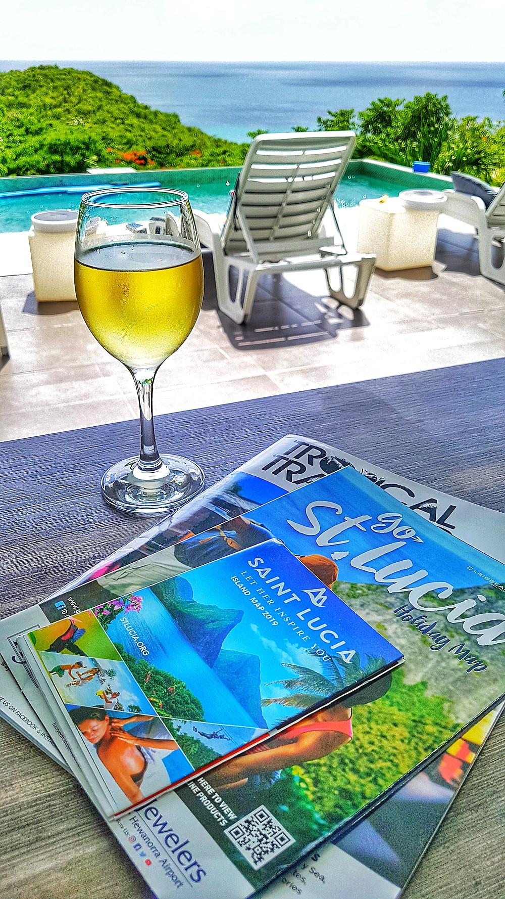 Chantelle Tatyana blog - St Lucia brochures