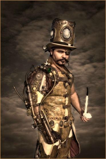 A Gold Colored Steampunk Costume For Men