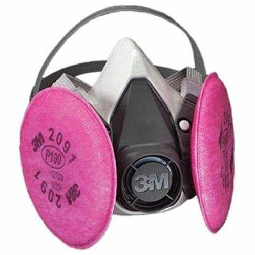 Half Face Respirator with HEPA (P-100) Filters