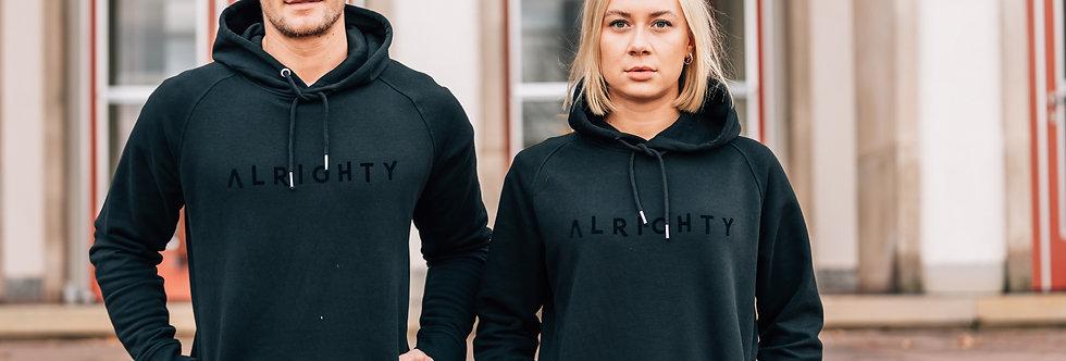 Alrighty All Black / Kapuzensweatshirt