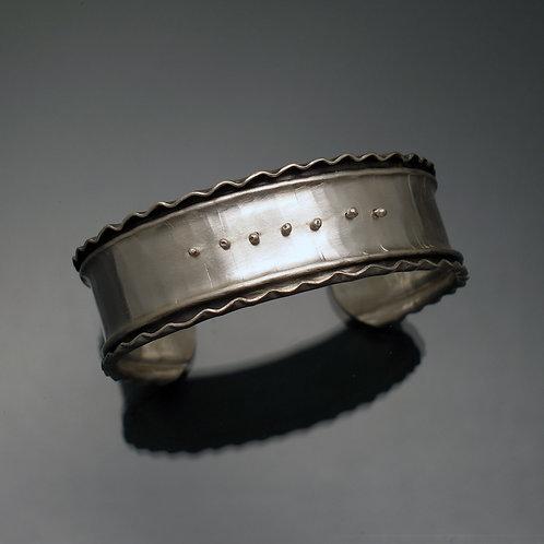 Ruffled Edge Cuff Bracelet.