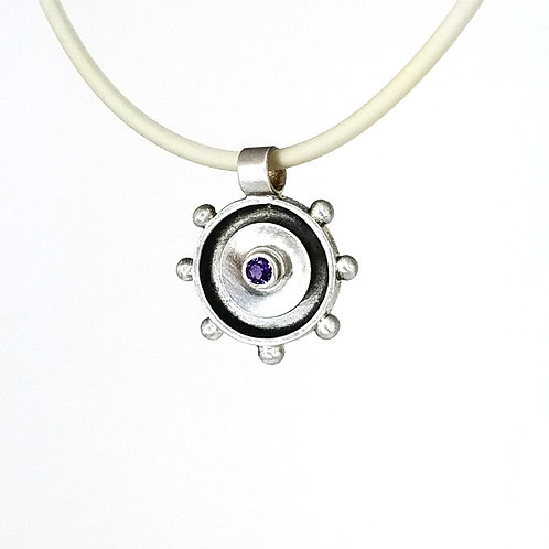 Radiant Pendant with Amethyst
