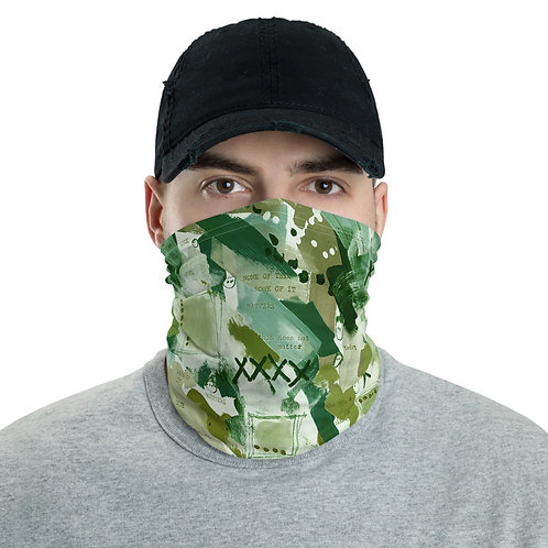 Face cloth cover - washable - camo colors custom printed with artwork