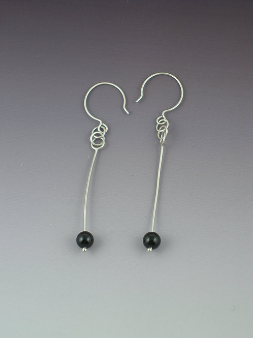 Dangle Beads Chain Loop Earrings
