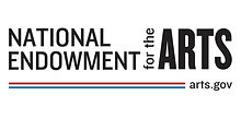 National Endowment for the Arts logo with web address arts.gov