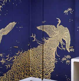 Whistler Peacocks On Blue - Peacock Wall