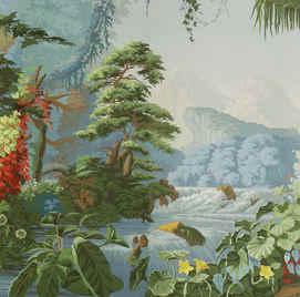 Eden in Eden Color Hand Painted Wallpaper