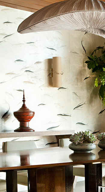 Fishes On Tarnished Silver - de Gournay