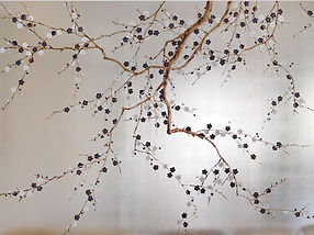 Silver Chinoiserie Wallpape