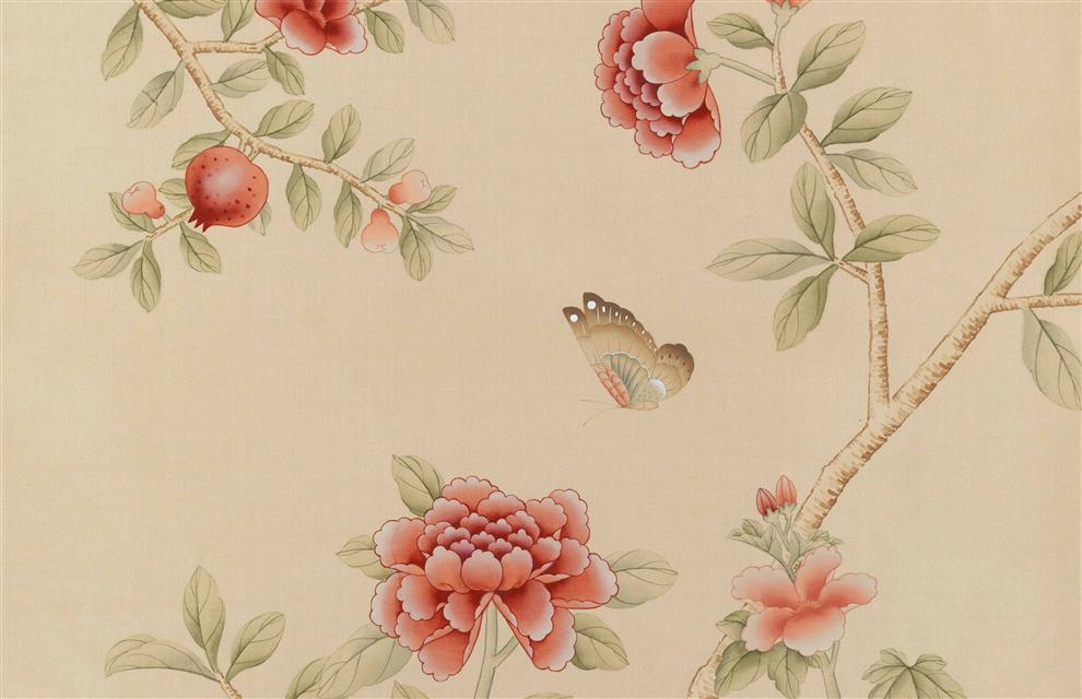 Dechelly -Pink Chinoiserie Wallpaper