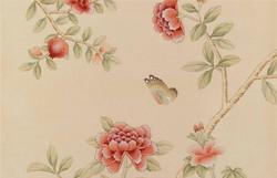 Dechelly -Pink Chinoiserie Wallpaper