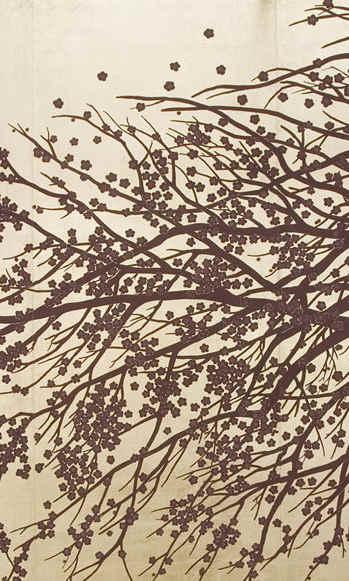 Windswept Blossom On White Gold - Japane