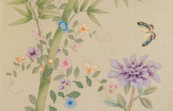 Old Gold -Gold Chinoiserie Wallpaper