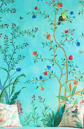 Amazonia design chinoiserie wallpaper in