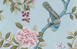 Light Blue - Chinoiseire Wallpaper