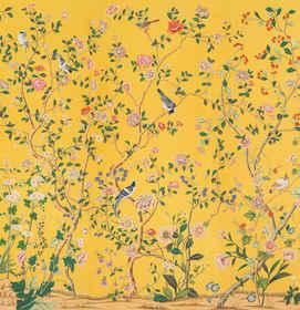 Erdem in Special Color on Golden Yellow Silk Wallpaper