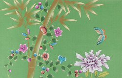 Kelly - Green Chinoiserie Wallpaper