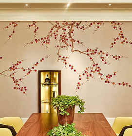 Plum Blossom On Tarnished Gold - de Gour