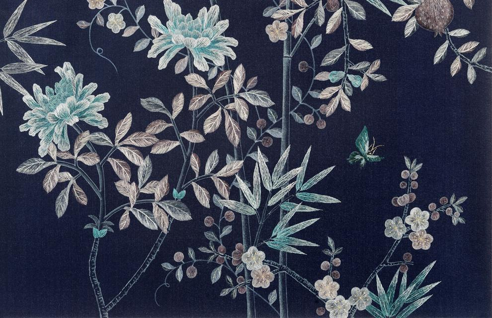 Chinoiserie Wallpaper More Color Choice Blue Green Pink Gold