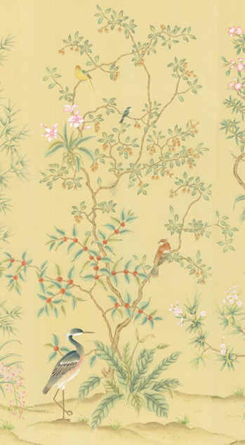 Tropical Selby  on Beige - Chinoiserie W