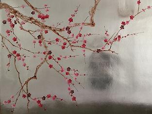 Silver Chinoiserie Wallpaper, de Gournay plum blossom