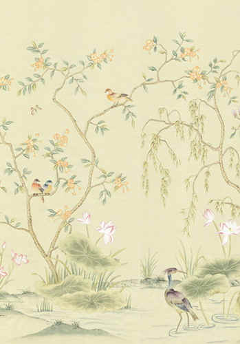 Spring Garden on Beige - Chinoiserie Wal