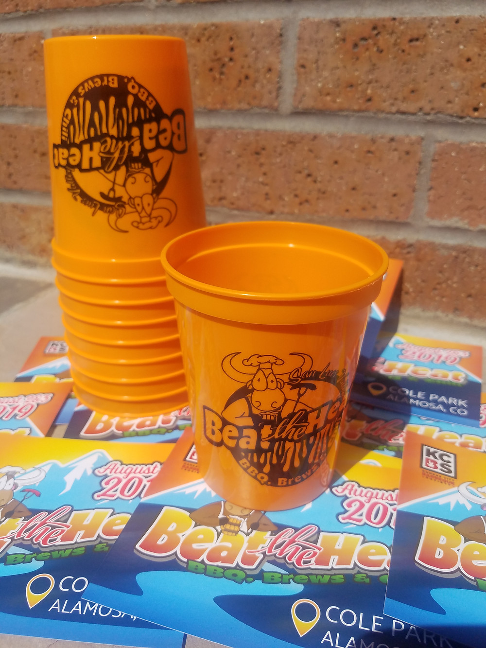 Cups can be used at the Beer Garden & the Hydration Station, cutting down on single use cups at the beer garden AND plastic bottled water waste.