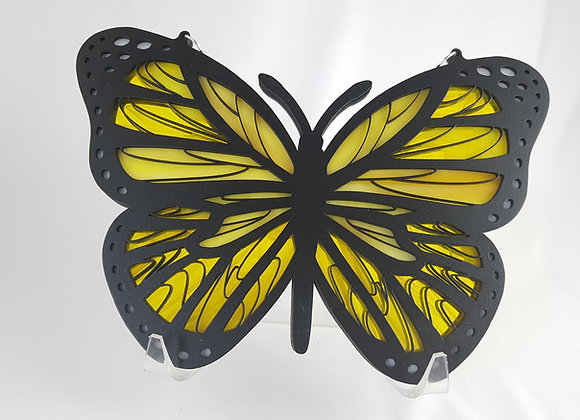 Stained glass Butterfly Yellow