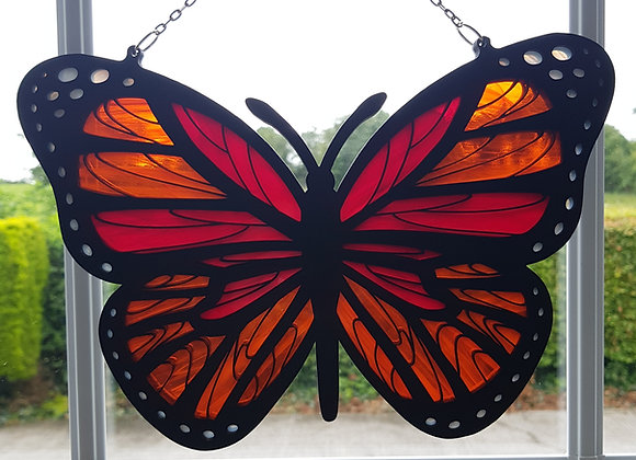 Stained glass Butterfly Red