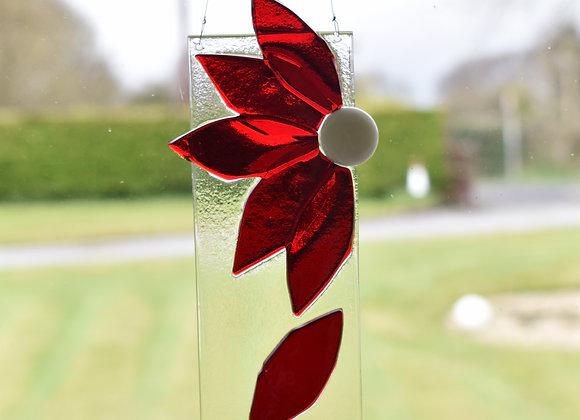 Flower Suncatcher in Red