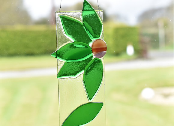 Flower Suncatcher in Green